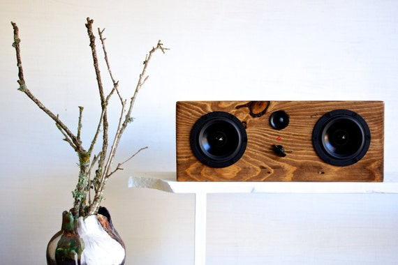 NEW! Bluetooth Reclaimed Wood Speaker    Handmade from Reclaimed Pine    Weston Speaker   Special Walnut Stain    FREE SHIPPING
