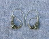 Roman Inspired S Shaped Silver Earrings