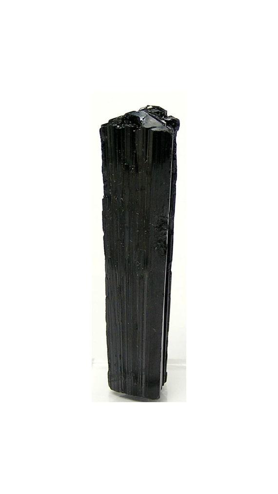Black Tourmaline Schorl Crystal Vintage Brazil Big Bold Crystal