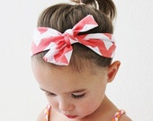 SALE Chevron Knot Headband in Navy    Zig-Zag Striped Headband in Newborn & Toddler Size