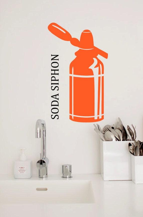 Soda Siphon Vinyl Wall Decal, Kitchen Decor, Wall Sticker - ID66