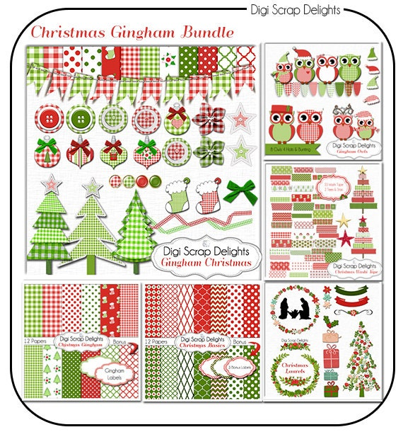 Gingham several Christmas and matching FREEBIES with Printable tags #Freebie Add-on for Gingham Christmas Kit, matching planner stickers available #digitalscrapbook #jesusisthereason #plannerlove #plannerstickers Free safe download