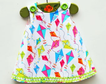 Kites - Girls Dress - Girls Clothing Pattern - Spring Dress - Toddler Summer Dress - KK Children Designs - Newborn to 5