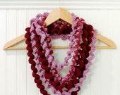 Crochet Pattern - Spiral Loop Scarf - Immediate PDF Download