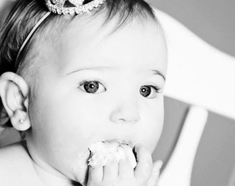 Birthday Crown Tiara Headband Austrian Crystal Photography Prop