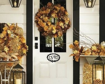 House Numbers Front Door Vinyl Decal