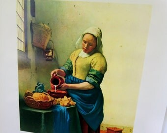Vintage Poster The Milkmaid The Museum Store Original Packaging Vintage Retro Art Never Framed