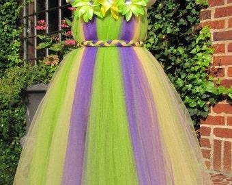 Mardi Gras Princess Tutu Dress sizes 12-18m,  18-24m, 2t, 3t, 4t, 5t, 6