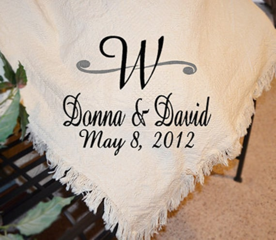 personalized wedding afghans personalized wedding by