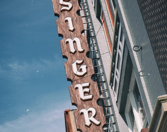 Usinger's Sausage - Milwaukee Art Photography Print - vintage sign photo