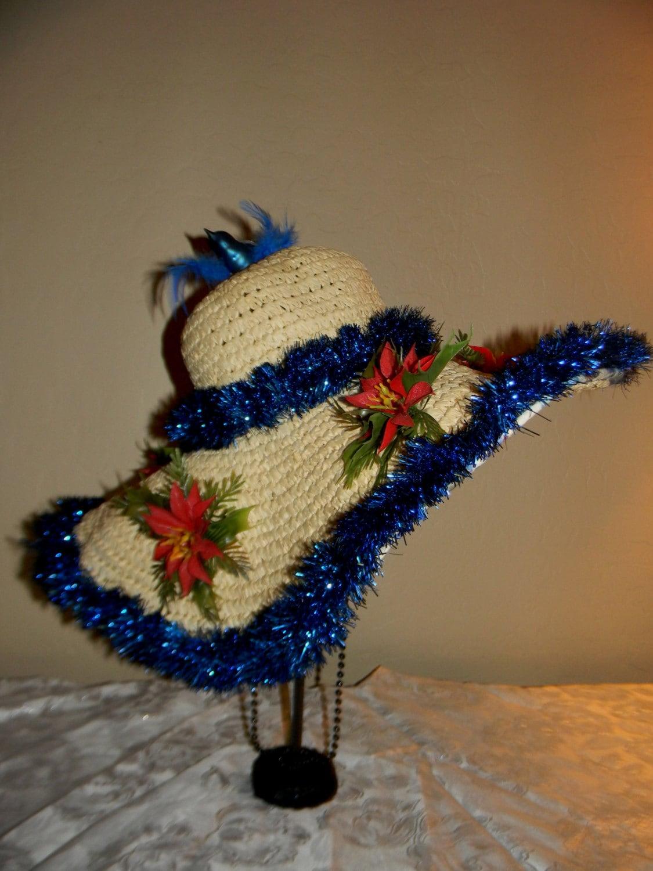 Funny Santa snow globe Derby Bowler hat Tacky Ugly ...  |Christmas Derby Hats