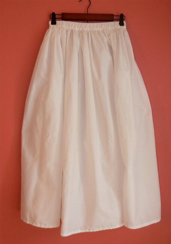 vintage skirt white elastic waist maxi boho by