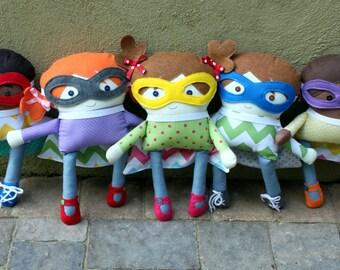 Super Hero Rag Dolls for Boys and Girls