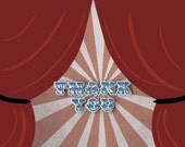 Circus Birthday Party Thank You Cards