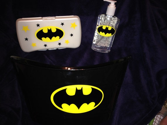 items similar to batman personalized baby shower gift basket with hand