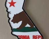 California Republic Bear Flag Sign