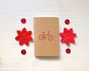 Notebook: Small Notebook, Red, Bike, Portland, Unique, For Her, For Him, Jotter, Kids, Gift, Journal, Stamped, Stocking Stuffer, KR205