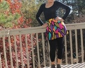 80s Colorful Pleated Mini Skirt by Tail