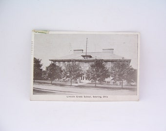 Vintage Postcard from Lincoln Grade School, Sebring Ohio Dated 1936