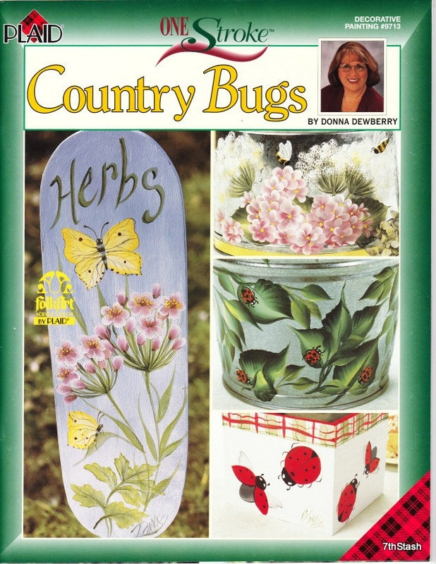 Painting Book Country Bugs By Donna Dewberry A One Stroke