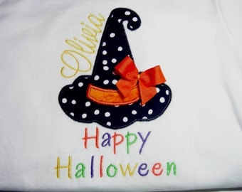 Witch Hat Personalized Applique Baby/Toddler Shirt (Newborn-5T)