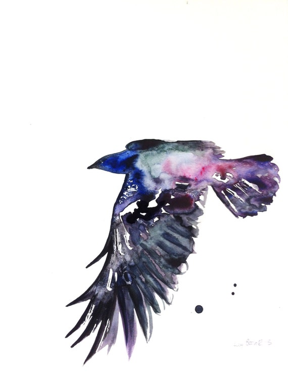 Watercolour Crow Entit...