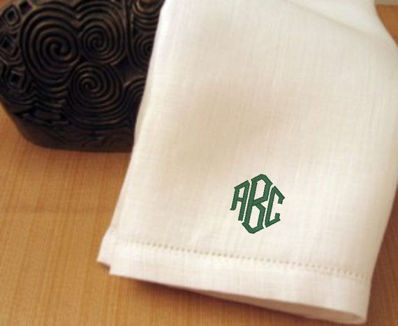 Mens Monogram Irish Linen Handkerchiefs Set Of 2 By