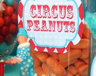 Circus Carnival Candy Bar Labels - PRINTABLE