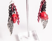 Autumn Thorn Spined Gothic cluster earrings- Macabre Collection