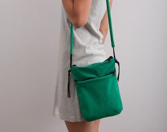 Unisex Bag Vegan/Faux Suede Bag Travel Wallet Small Green Bag Modern Minimalist Bag Organizer Green Bag Autumn Accessories Christmas Gift