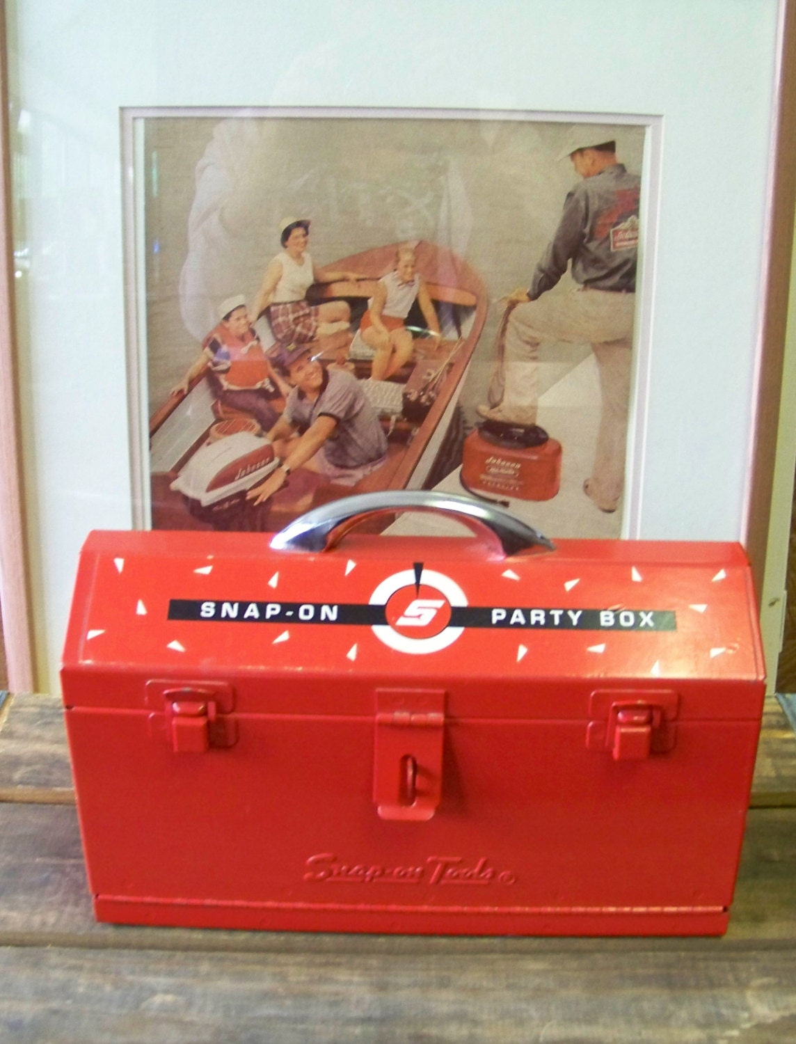Snap on tools vintage advertising promotional tool box party for Quality craft tool box