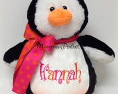 Personalized Plush Stuffed Penguin Soft Toy