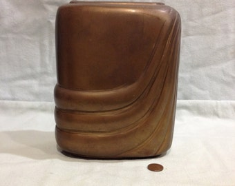 Vintage Dolbi Cashier Brass Art Deco Style vase