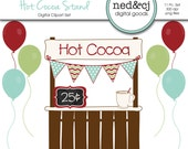 Hot Cocoa Stand Digital Scrapbook Clipart - Hot Cocoa Clipart - Hot Chocolate - Winter Christmas Clip Art - INSTANT DOWNLOAD
