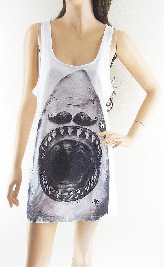 Shark shirt animal fashion workout custom shark by sinclothing for Shark tank t shirt printing