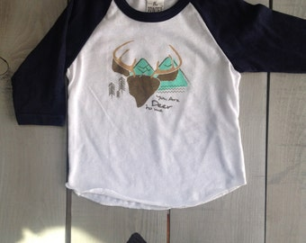 S A L E Deer to Me Kids Baseball Tee