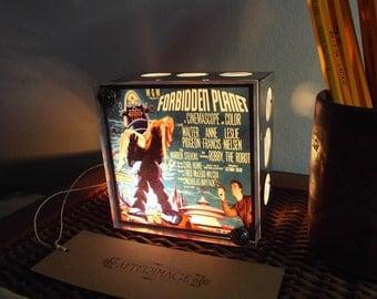 Forbidden Planet Night Light Sci-Fi Movie Ad Industrial Chic