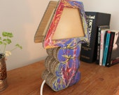 Painted Cardboard Table Lamp ANGELS