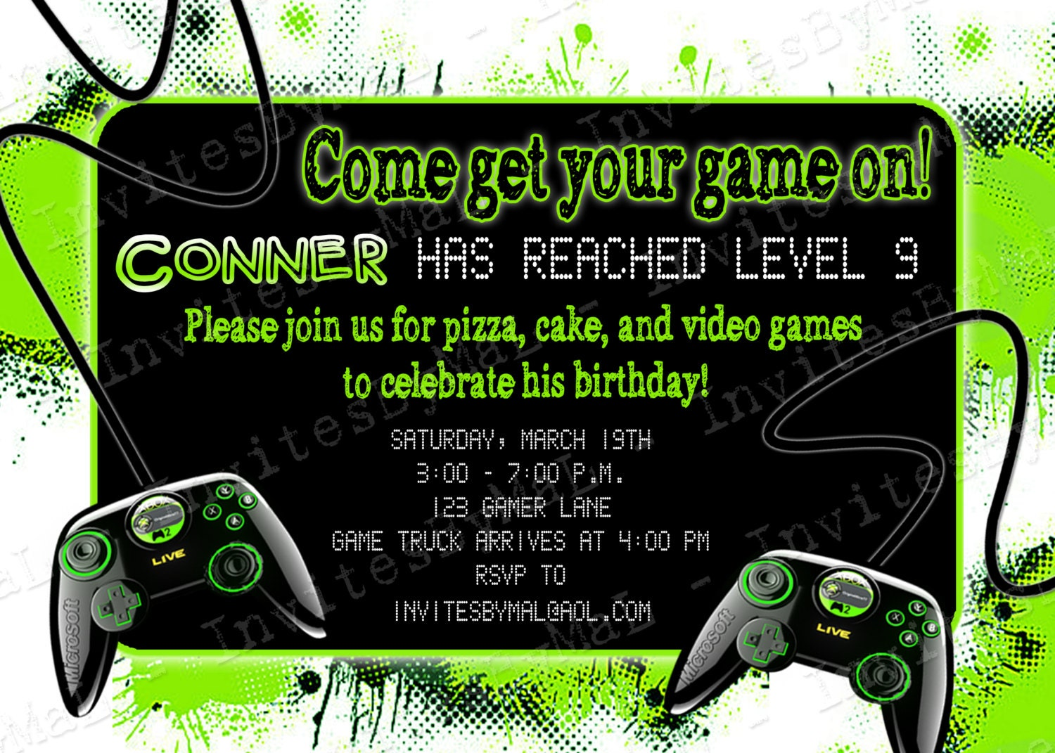 Video Game Party Invitations for your inspiration to make invitation template look beautiful