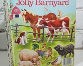 Vintage Little Golden Book.The Jolly Barnyard. Published in 1978. Children's Storybook. Bedtime Reading. Nursery or Child's Room Decor.