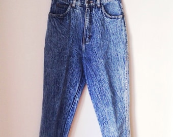 Acid Wash High Waisted Jeans Size 26 1990s