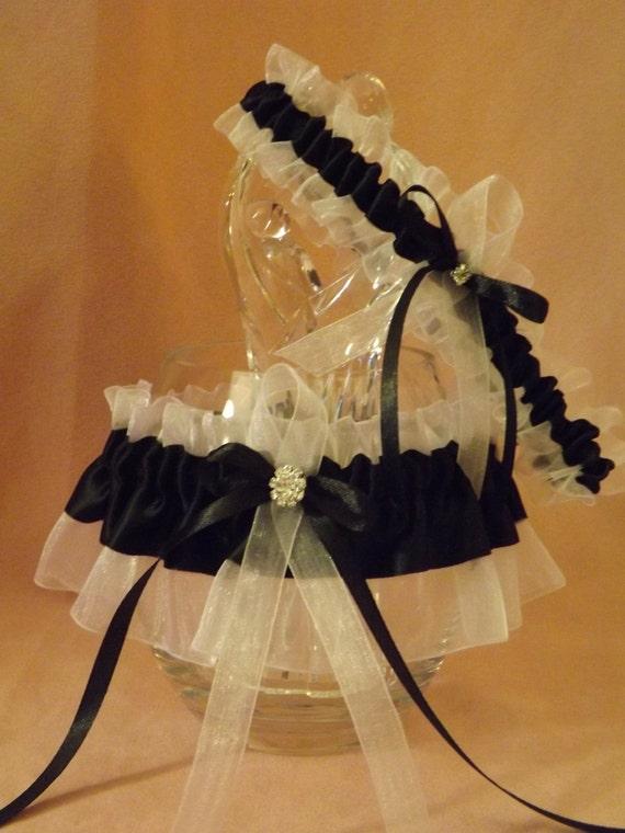 Gothic Garter Belt Set Black Veil Bride Garter Belt Set