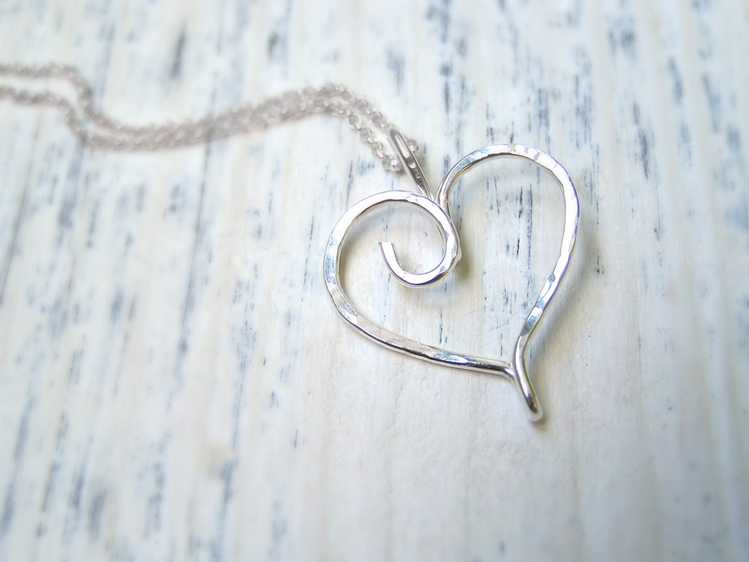 Ring Holder Necklace Hammered Ring Necklace Holder Wedding: Hammered Sterling Silver Heart Charm Ring Holder Pendant