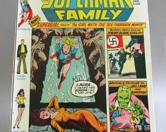 "Vintage Comic Book, Supergirl Presents The Superman Family No. 168, ""The Girl With the See Through Mind"", 100 pages, January 1974, DC"