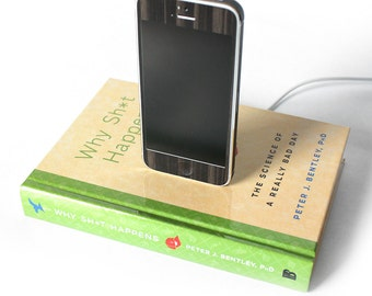 Why Sh*t Happens - Green and Yellow Dock, iPhone 4S, iPhone 5C Docking Station Desk Accessory