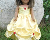 Princess Belle dress for American Girl doll and other 18 inch dolls