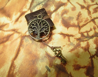 Tree of Life Spell Book in Bronze - Dollhouse Miniatures (Item B10)