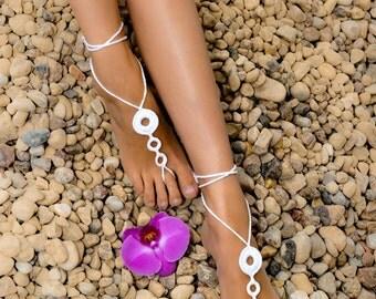 Beach wedding Barefoot Sandals, Crochet barefoot sandals, Women's barefoot sandals, Foot jewelry, Accessory, Bridal party shoes, Bridesmaid