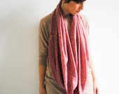 Pink Gold Infinity Scarf - Loop Scarf Nursing Infinity Scarf Women Scarves - Galaxy scarf Long Neck Scarf - Gift for her