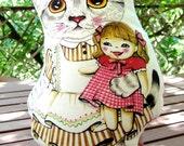 cat doll, art doll, kawaii cat, decor cat, cat pillow, cat toy, kitten pillow ,kitty pillow, cat accessories, cat lady gift, plushy cat